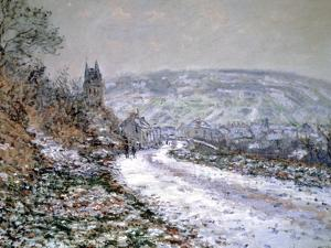 Entrance to the Village of Vetheuil in Winter, 1880 by Claude Monet