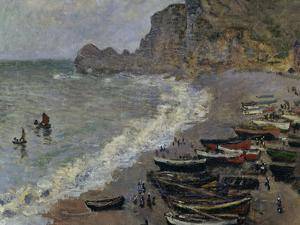 Etretat, The Beach, c.1883 by Claude Monet
