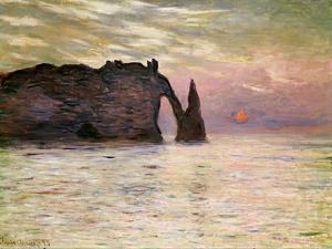 Falaise D'Etretat, 1883 by Claude Monet