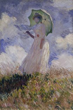 Femme à l'Ombrelle Tournée Vers la Gauche (Woman with Umbrella), 1886 by Claude Monet