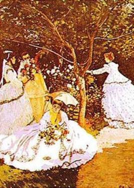 Femmes Dans un Jardin by Claude Monet