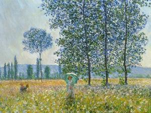 Fields in Spring, 1887 by Claude Monet
