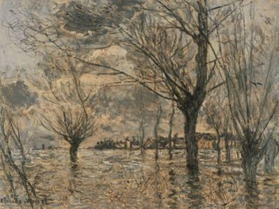 Flood of the Seine at Vétheuil by Claude Monet