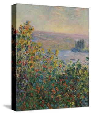 Flower Beds at Vetheuil, 1881 by Claude Monet