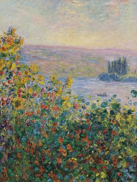Flower Beds at Vetheuil - Focus by Claude Monet