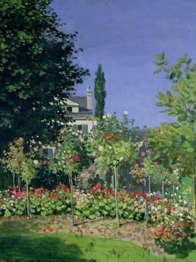 Flowering Garden at Sainte-Adresse, circa 1866 by Claude Monet
