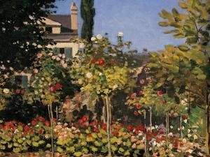 Flowering Garden in Sainte-Adresse by Claude Monet