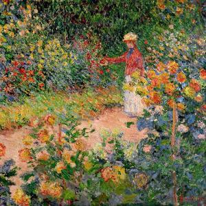 Garden at Giverny, 1895 by Claude Monet