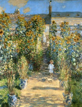 Garden at Vetheuil, 1881 by Claude Monet