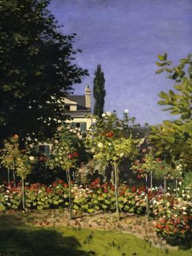 Garden in Bloom, c.1866 by Claude Monet