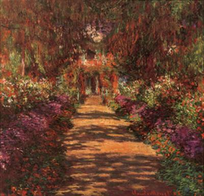Garden Path at Giverny by Claude Monet