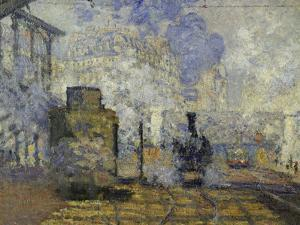 Gare Saint-Lazare, c.1877 by Claude Monet
