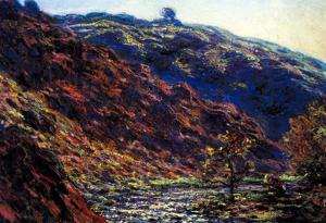 Claude Monet Gorge of the Petite Creuse Art Print Poster