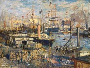 Grand Quai at Havre, 1872 by Claude Monet