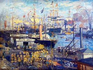 Grand Quay at Le Havre, 1874 by Claude Monet