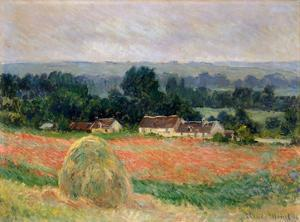 Claude Monet (Haystack Near Giverny) Art Poster Print