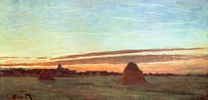 Haystacks at Chailly, 1865 by Claude Monet
