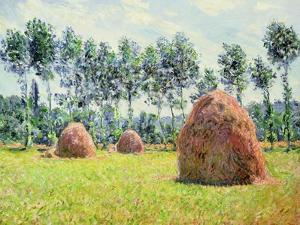 Haystacks at Giverny, 1884 by Claude Monet