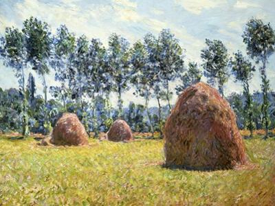 Haystacks at Giverny by Claude Monet