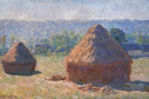 Haystacks, End of the Summer, Morning Effects by Claude Monet