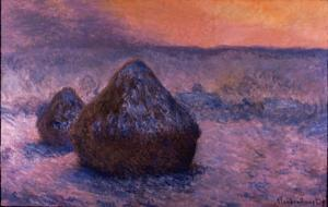 Haystacks in the Setting Sun by Claude Monet