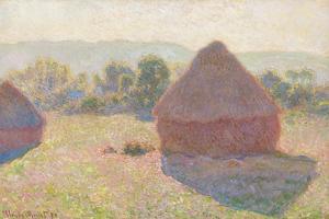 Haystacks, Midday, 1890 by Claude Monet