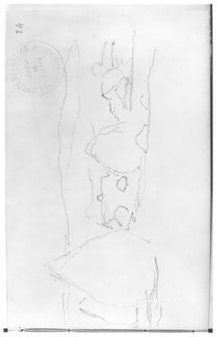 Haystacks (Pencil on Paper) (B/W Photo) by Claude Monet