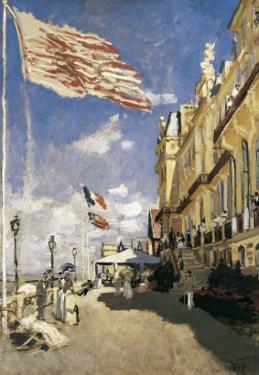 Hotel Des Roches-Noires in Trouville by Claude Monet