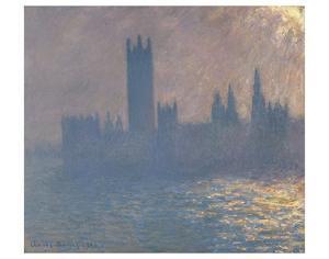Houses of Parliament, Sunlight Effect (Le Parlement, effet de soleil), 1903 by Claude Monet