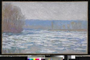 Ice breaking up on the Seine near Bennecourt, 1893 by Claude Monet