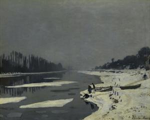Ice Flows on the Seine at Bougival, Ca. 1870 by Claude Monet