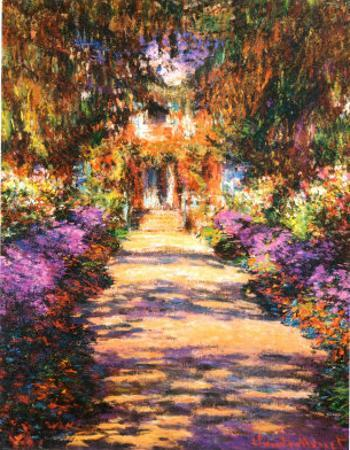 Il Viale del Gardino by Claude Monet