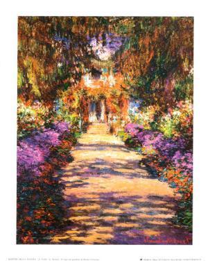 Il Viale del Gardino by Claude Monet