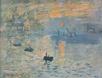 Impression (hand-made paper) by Claude Monet