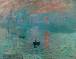Impression, Soleil Levant (Impression, Rising Sun), painted 1872 in Le Havre, France. by Claude Monet