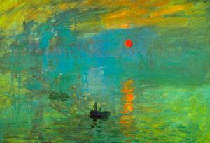 Claude Monet Impression Sunrise Art Print Poster