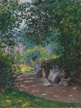 In Monceau Park, 1878 by Claude Monet