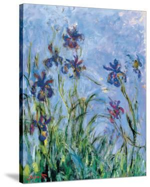 Irises (detail) by Claude Monet
