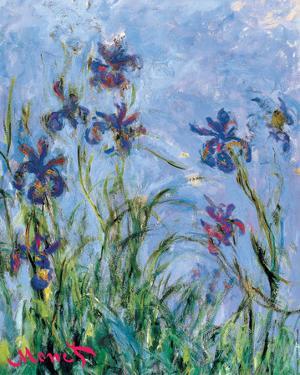 Irises - detail by Claude Monet