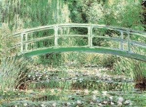 Claude Monet (Japanese Bridge at Giverny) Art Print Poster
