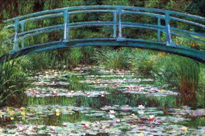 Japanese Footbridge by Claude Monet