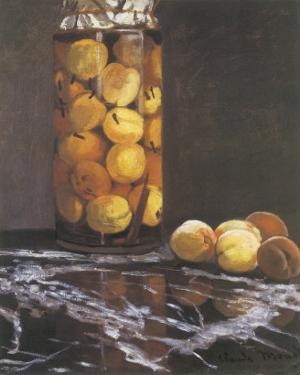 Jar of Peaches by Claude Monet