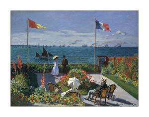 Jardin a Sainte-Adresse, 1866/1867 by Claude Monet