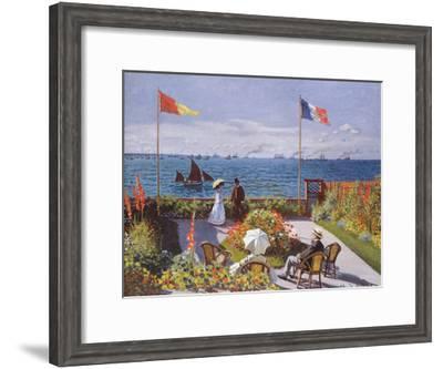 Claude Monet (Jardin a Sainte-Adresse) Art Poster Print--Framed Poster