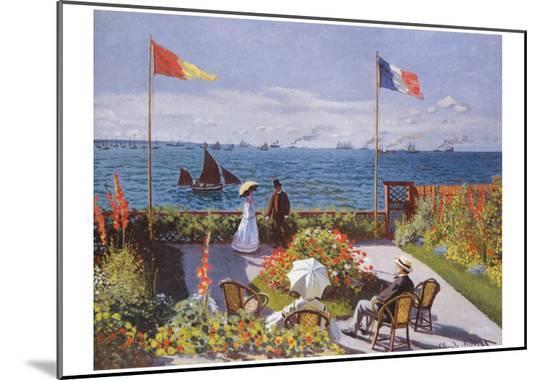 Claude Monet (Jardin a Sainte-Adresse) Art Poster Print--Mounted Print