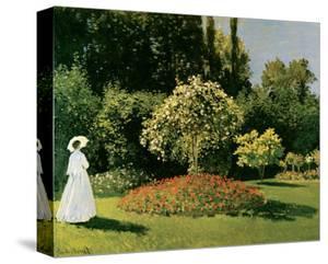 Jeanne Marguerite Lecadre in a Garden, c.1867 by Claude Monet
