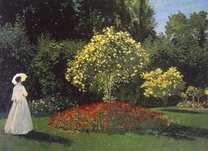 Jeanne-Marguerite Lecadre in the Garden by Claude Monet