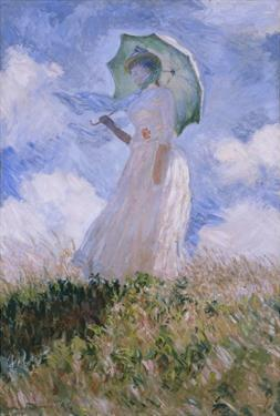 La Femme À L'Ombrelle Tournée Vers La Gauche, Woman with Parasol, Turned to the Left, 1886 by Claude Monet