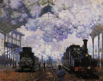 Claude Monet (La Gare St-Lazare, Arrival of a Train) Art Poster Print