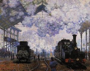 Claude Monet (La Gare St-Lazare, Arrival of a Train) Art Poster Print